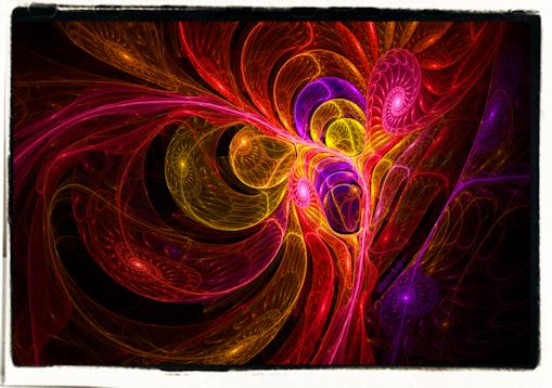 Astral ammonites fractal