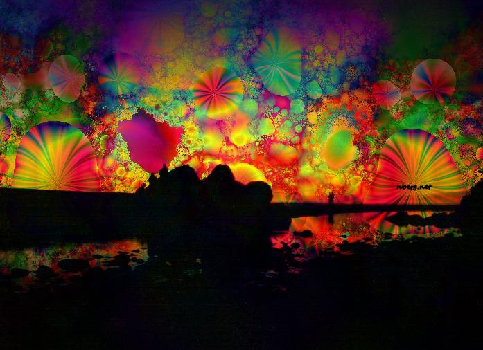 Oregon beach psychedelic sunset - photos nberg.net ...